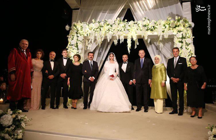 مراسم ازدواج فوتبالیست ترک با حضور رجب طیب اردوغان