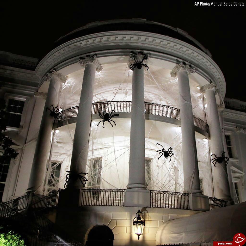 تغییر چهره کاخ سفید به مناسبت جشن هالووین