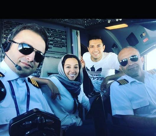 اشکان خطیبی در کابین خلبان