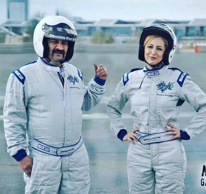 علاقه مهراب قاسم خانی و همسرش به پیست
