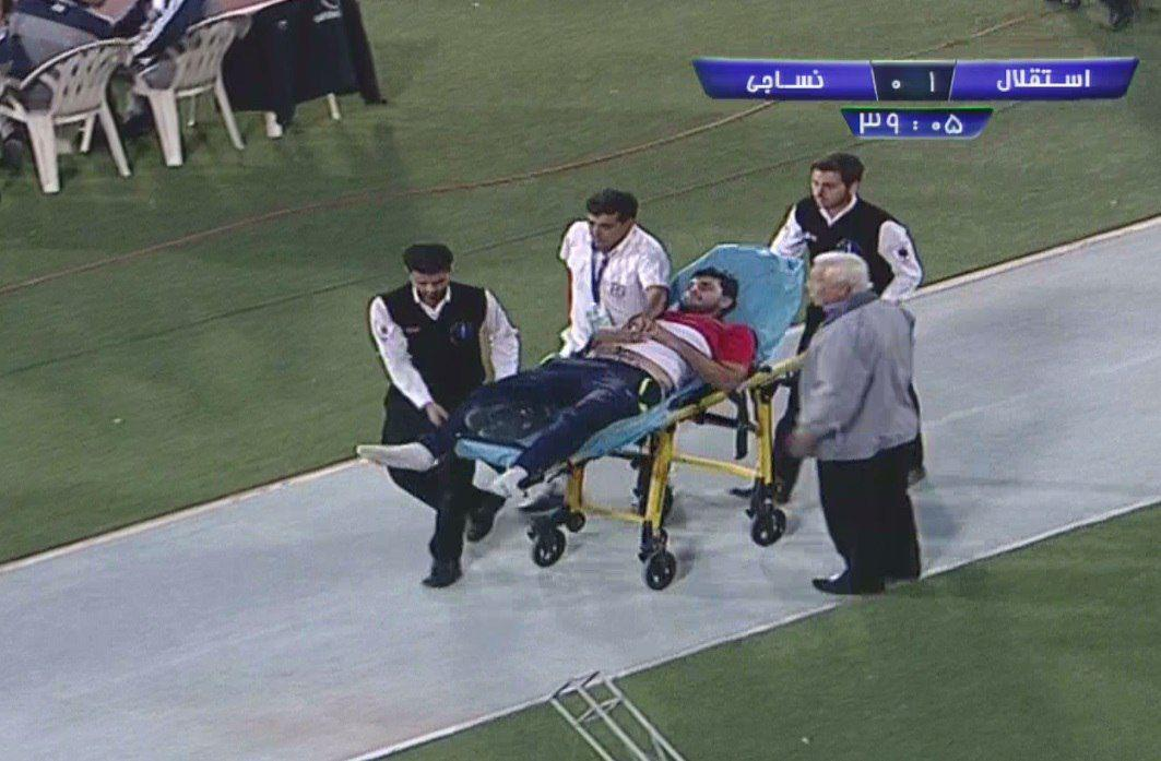 یکی از هواداران نساجی کارش به بیمارستان کشید