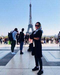 سفر ملیکا شریفی نیا به پاریس