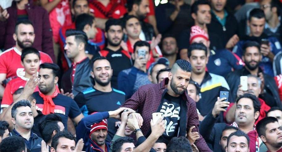 محمد عباسزاده در ورزشگاه آزادی