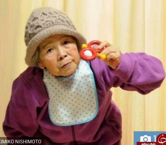 تصاویر جالب از هنرمند سالخورده ژاپنی