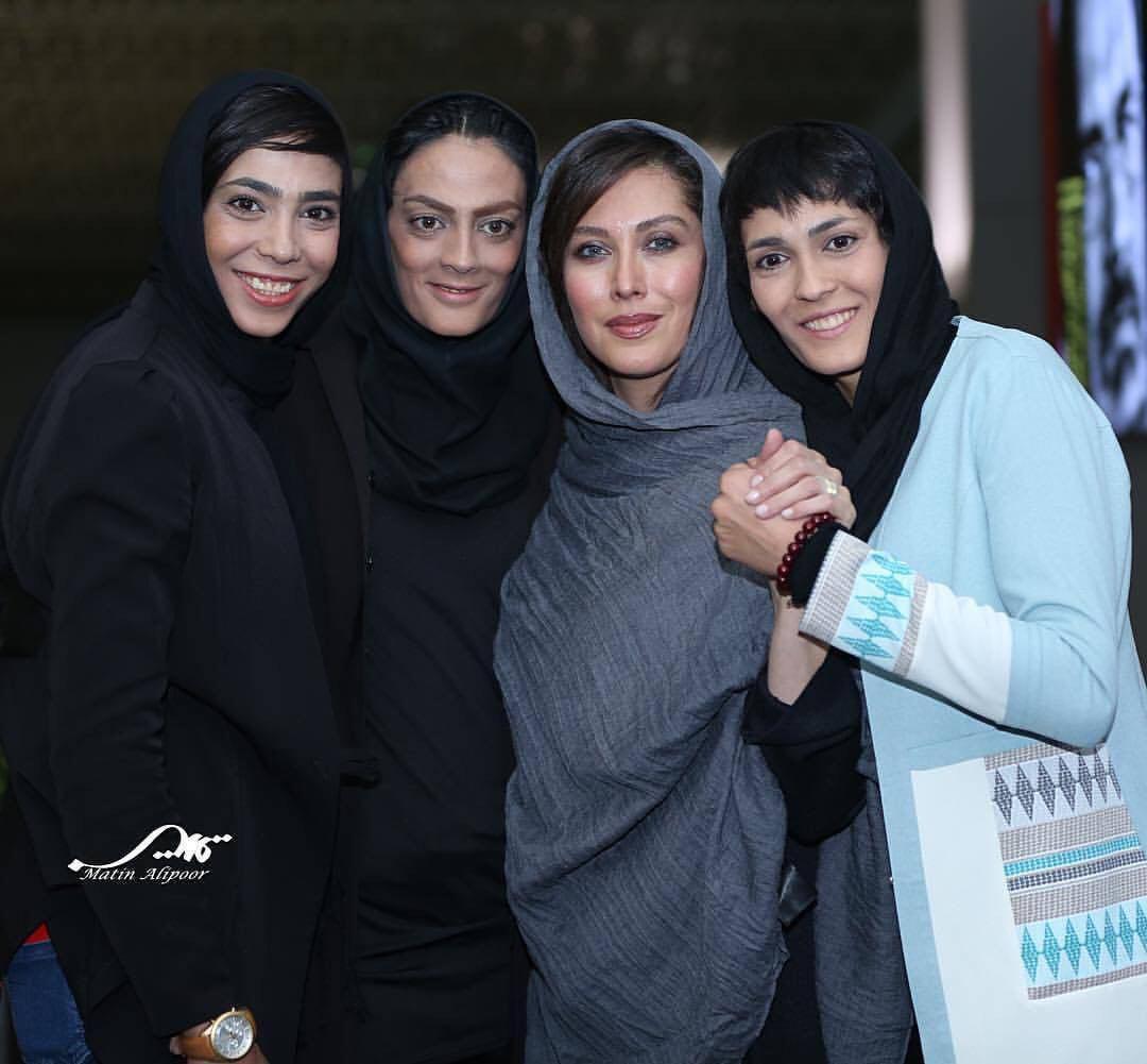 خواهران منصوریان با خانم بازیگر