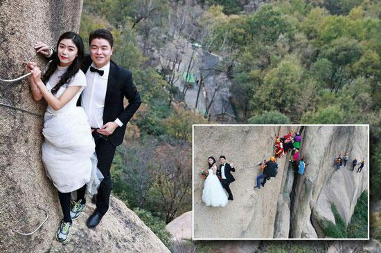 مراسم ازدواج زوج کوهنورد