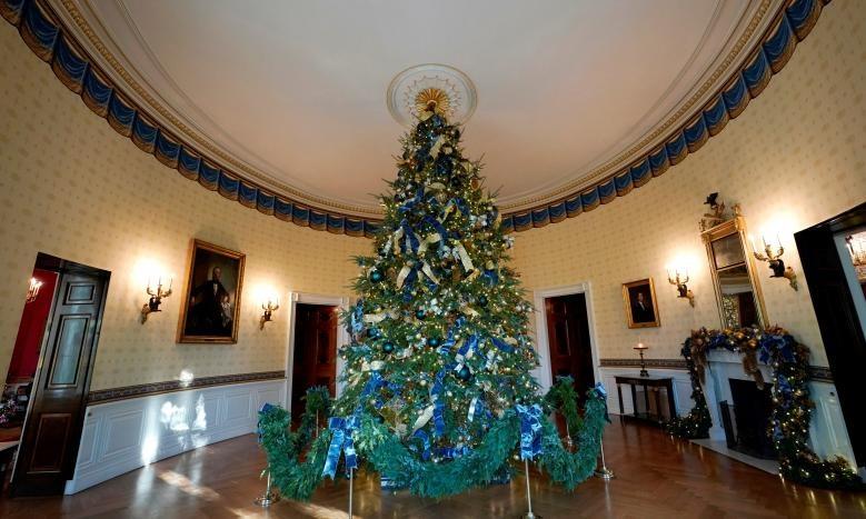 هنر ملانیا ترامپ در تزیین درخت کریسمس