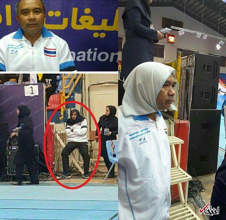 روسری زدن مربی مرد در بازیهای کبدی قهرمانی زنان آسیا