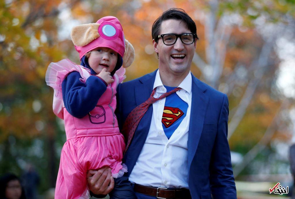 تازه ترین تصویر از نخست وزیر جوان کانادا و فرزندش