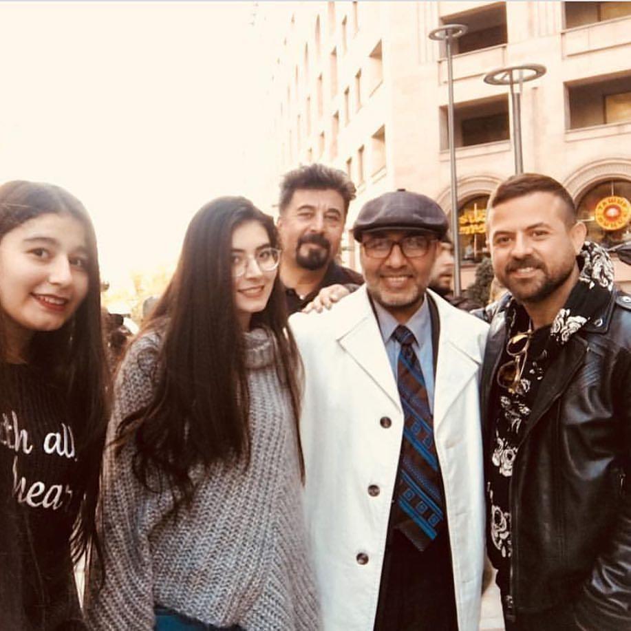 رضا عطاران با ظاهری متفاوت در ارمنستان