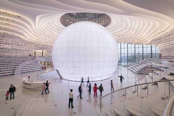 کتابخانه ای با فضایی شگفت انگیز