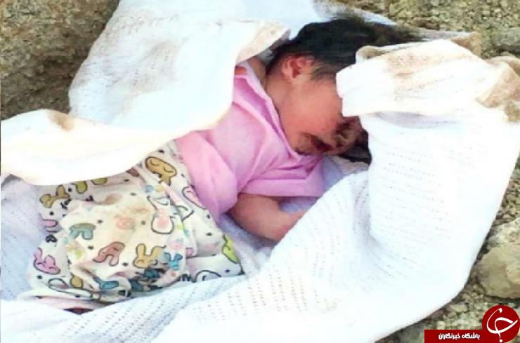 دفن کردن نوزاد دختر زیر خاک