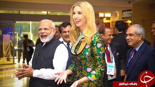 حضور دختر ترامپ در هند