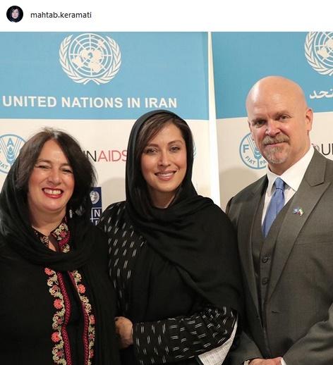 کرامتی در کنار هماهنگ کننده مقیم سازمان ملل در ایران