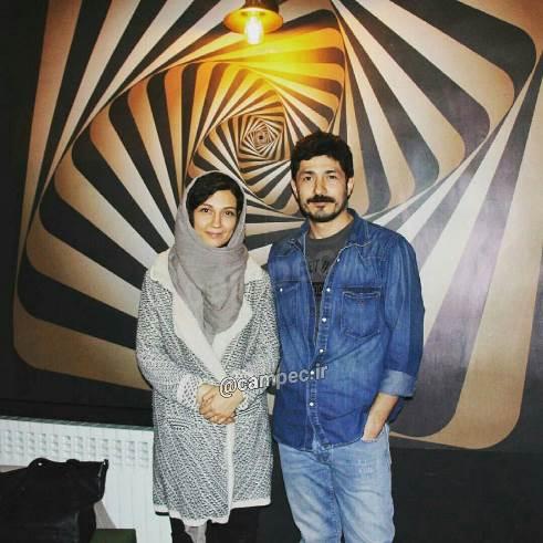 تازه ترین عکس از مجتبی رجبی و همسرش