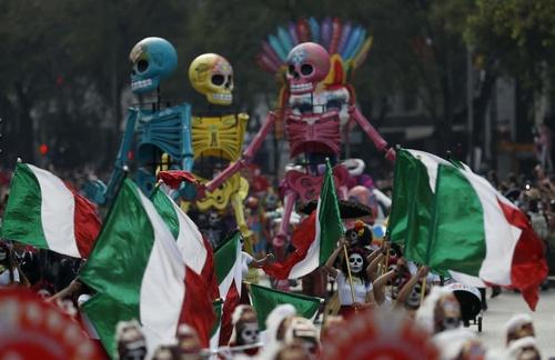 جشنواره مردگان در پایتخت مکزیک