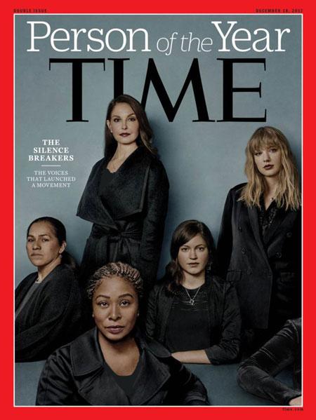 آرنج زن ناشناس روی جلد مجله تایم