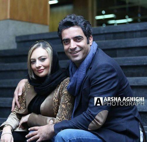 منوچهر هادی در کنار همسرش