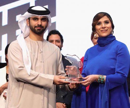 تیپ متفاوت هنرمند زن در جشنواره فیلم دبی