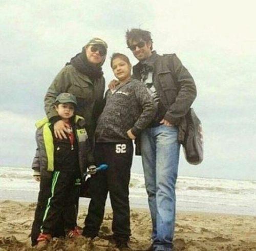 شهاب حسینی با خانواده
