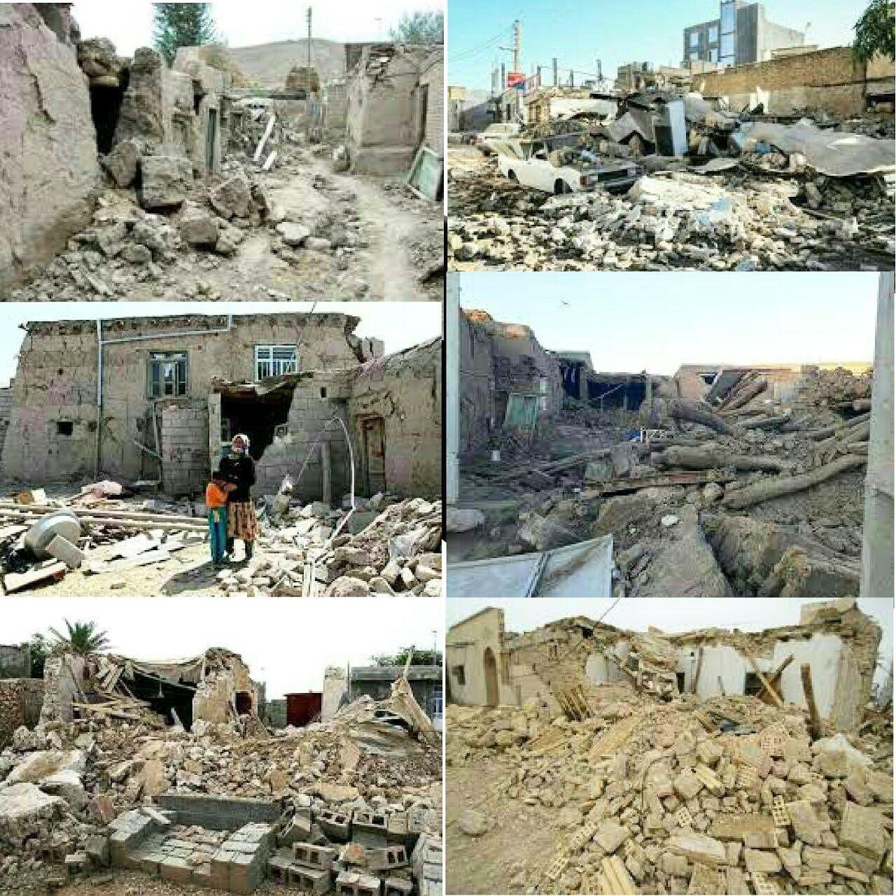 گزارش تصویری از تخریب خانه ها ناشی از زلزله در کرمان