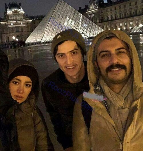 بازیگر زن و سردار آزمون در خارج از کشور