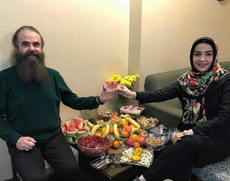 شب یلدای سارا صوفیانی و همسرش