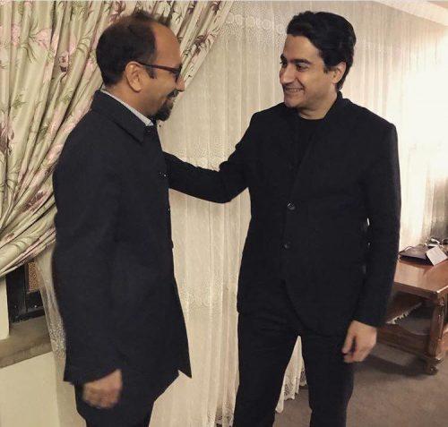 حضور اصغر فرهادی و همسرش در کنار خواننده مشهور