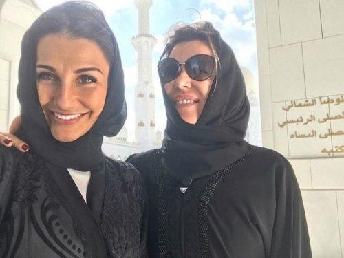 بازدید از مساجد ابوظبی توسط همسران فوتبالیست های تیم رئال