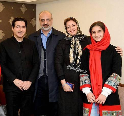 خانواده محمد اصفهانی در کنار فرزند شجریان