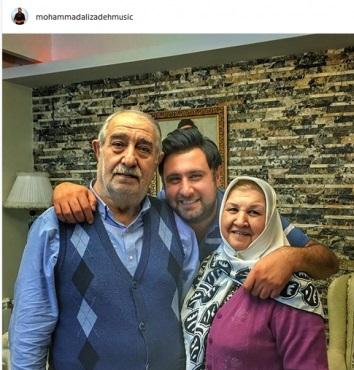 محمد علیزاده در کنار خانواده