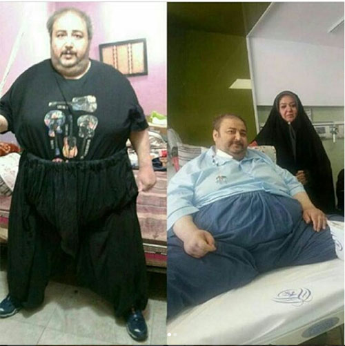 فوت موسی شریفی,علت فوت عمو موسی,درگذشت عمو موسی شریفی چاق ترین مرد ایران