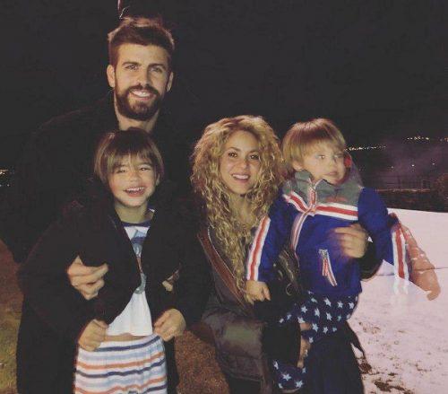 عکس خانوادگی از پیکه و شکیرا