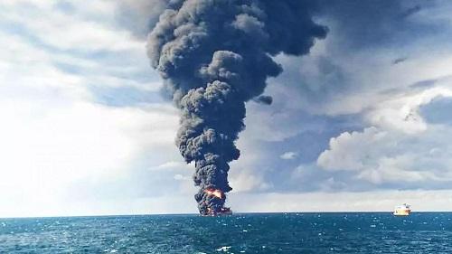 لکه نفتی سانچی,کشتی سانچی,کشتی نفتکش سانچی