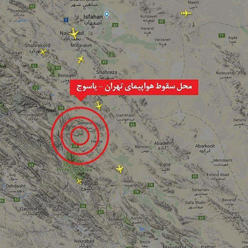 سقوط هواپیمای تهران یاسوج در سمیرم,جزئیات سقوط هواپیمای تهران یاسوج,وضعیت مسافران هواپیمای تهران یاسوج