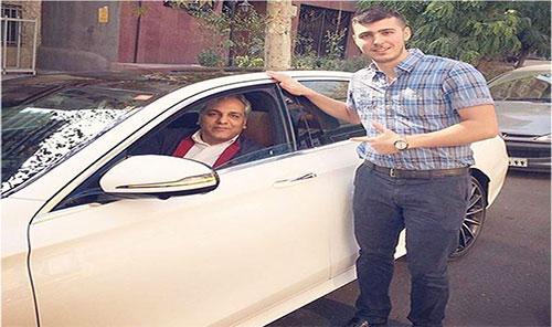 عکس ماشین مهران مدیری,ماشین مهران مدیری,قیمت ماشین مهران مدیری