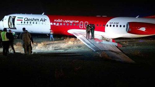 سانحه هواپیمای قشم ایر در فرودگاه مشهد,سانحه هواپیمای قشم ایر در مشهد,آتش سوزی هواپیمای قشم ایر در مشهد