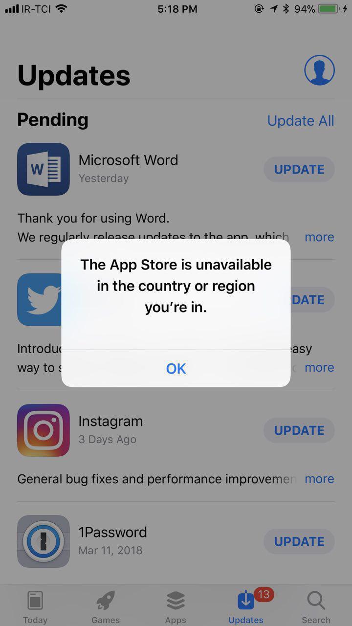 اپ استور برای ایرانی ها مسدود شد, علت مسدود شدن اپ استور