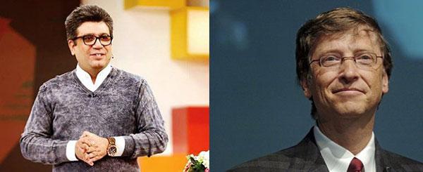 مصاحبه رضا رشیدپور با بیل گیتس,مصاحبه رضا رشیدپور با بیل گیتس در برنامه دید در شب,گفتگوی رضا رشیدپور با بیل گیتس