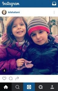 عکس دختر و پسر لیلا حاتمی در اینستاگرام