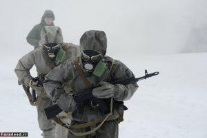 تصاویری از مانور زنان ارتشی کشور روسیه