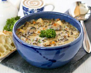 دستور پخت سوپ سفید آمریکایی با جزئیات