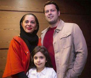 عکس همسر پژمان بازغی مجری برنامه کودک شو به همراه دخترشان