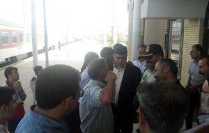 ماجرای خروج قطار از ریل در نیشابور,علت خروج قطار از ریل ایستگاه بجستان,خروج قطار از ریل نیشابور به طبس