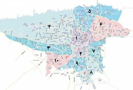 دانلود نقشه مناطق تهران 97,نقشه خیابانهای تهران,دانلود نقشه تهران 97