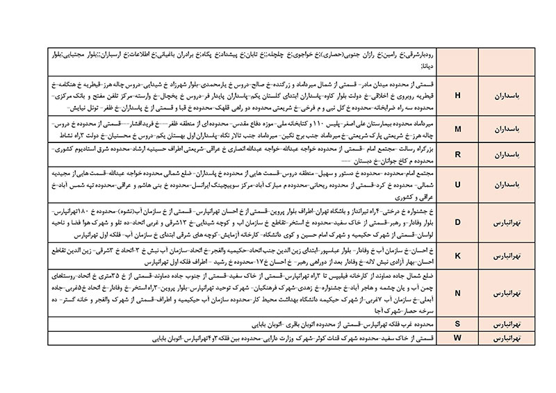 برنامه قطعی برق تهران سه شنبه 2 مرداد 97,جدول قطعی برق تهران سه شنبه 2 مرداد 97,قطعی برق تهران 2 مرداد 97