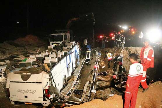 جزئیات واژگونی اتوبوس مسافربری در سبزوار تعداد کشته و مصدومان