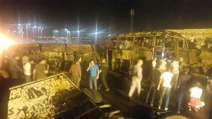 تعداد کشته شدگان حادثه برخورد تانکر سوخت با اتوبوس در سنندج